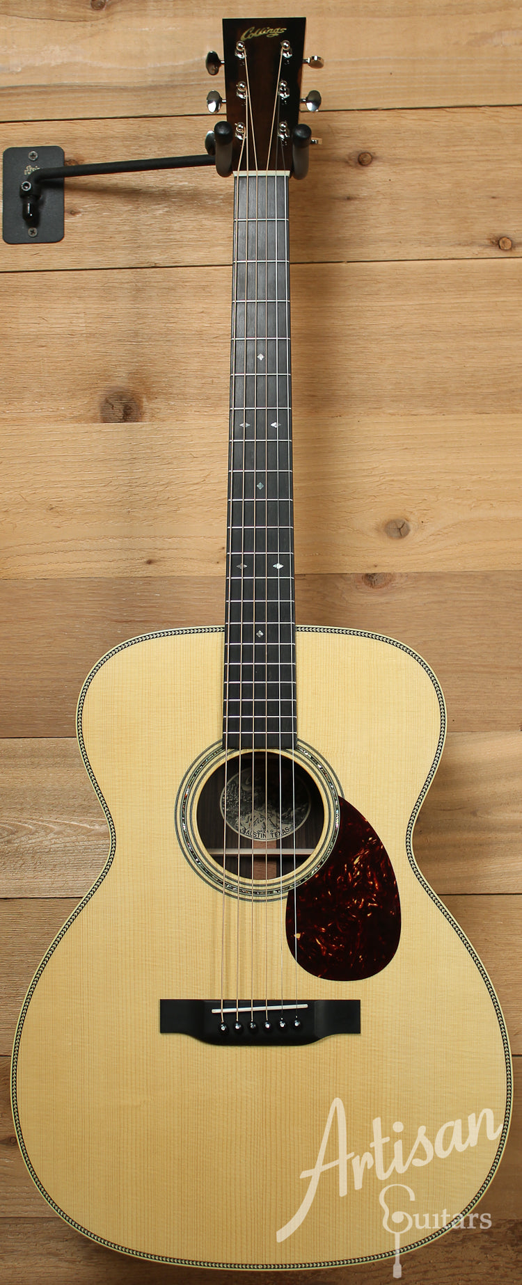 Collings OM2H G Varnish German Spruce and Indian Rosewood with Varnish ID-7702 - Artisan Guitars