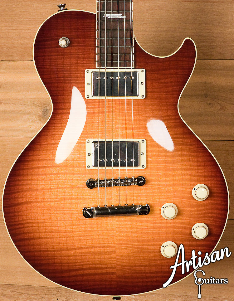 Collings City Limits Deluxe Flamed Maple With Iced Tea Sunburst Finish and Jason Lollar Humbuckers ID-6090 - Artisan Guitars