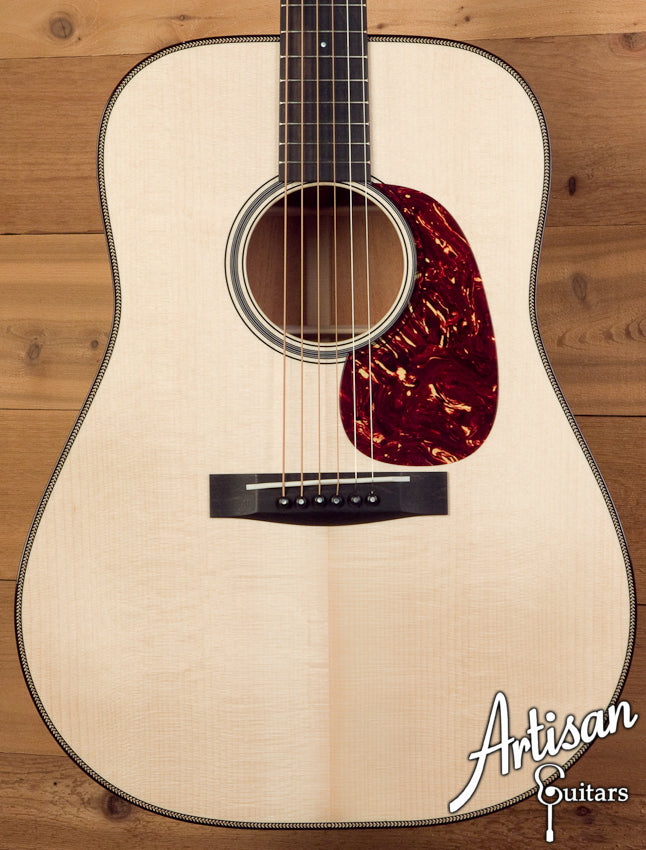 Huss and Dalton TD-M Adirondack Spruce and Sinker Mahogany with Herringbone ID-5497 - Artisan Guitars