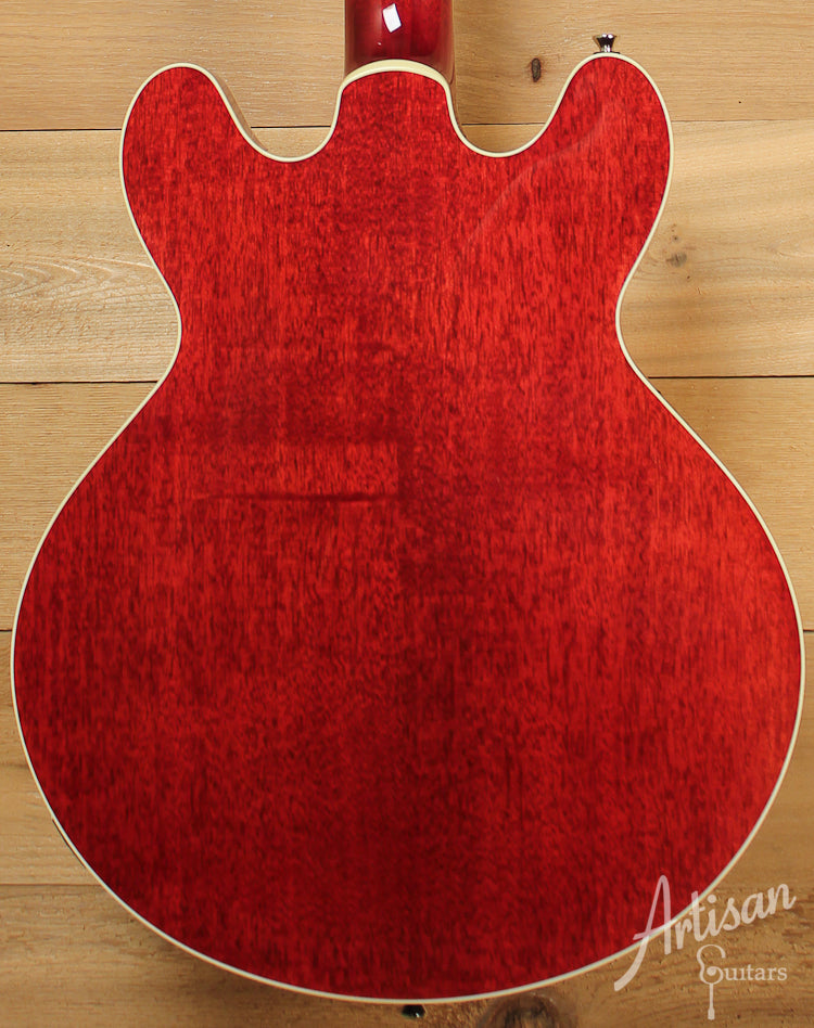 Collings I 35 Deluxe Premium Quilt Maple with Dark Cherry Sunburst and Parallelogram Inlays ID-7681