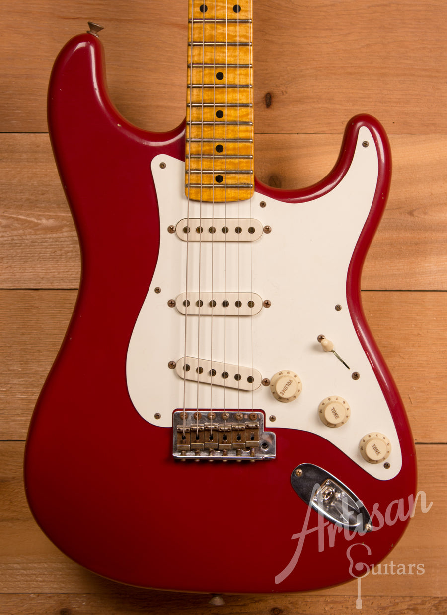 Fender Custom Shop Limited Edition Journeyman Relic '55 Stratocaster Cimarron Red Finish ID-11302 - Artisan Guitars