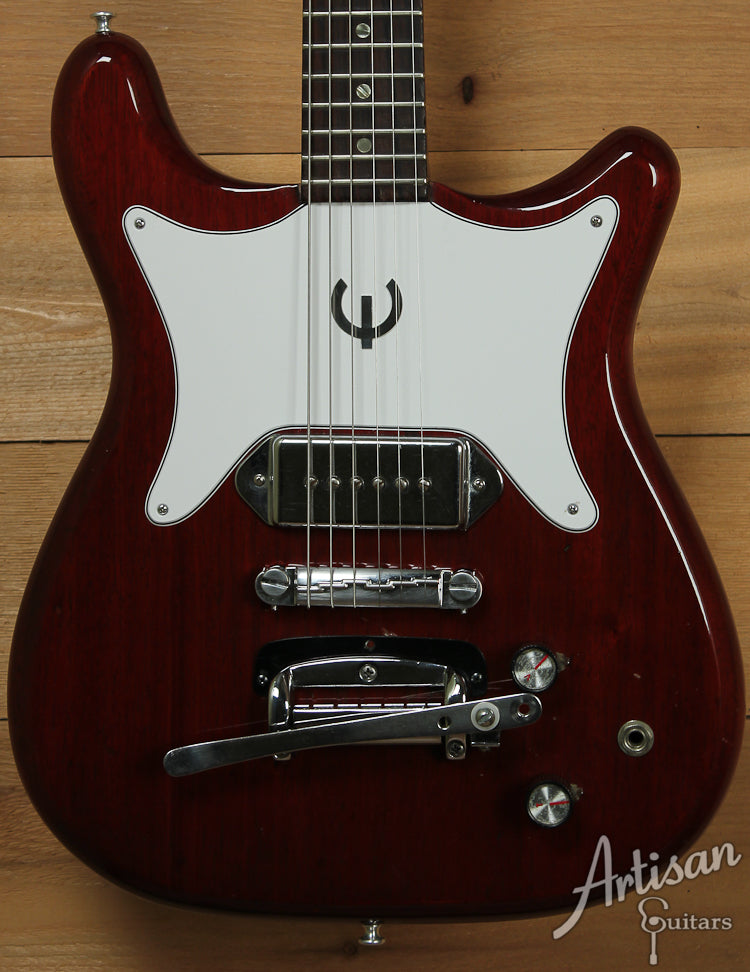 1963 Epiphone Coronet with Cherry Red Finish  ID-4744 - Artisan Guitars