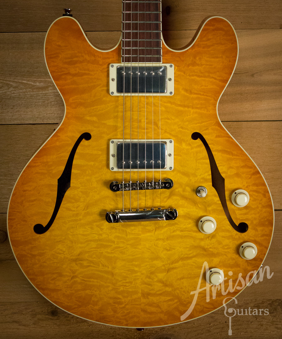 Collings I 35 Deluxe Guitar Amber Sunburst and Dual Lollar Low Wind Imperial Humbuckers ID-10164 - Artisan Guitars