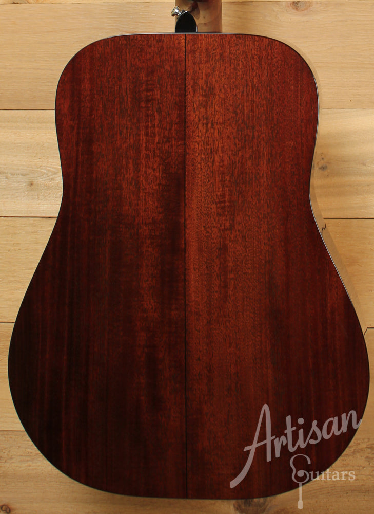 Pre Owned 2012 Huss and Dalton TD M Sinker Mahogany and Adirondack Spruce with Herringbone ID-6744 - Artisan Guitars