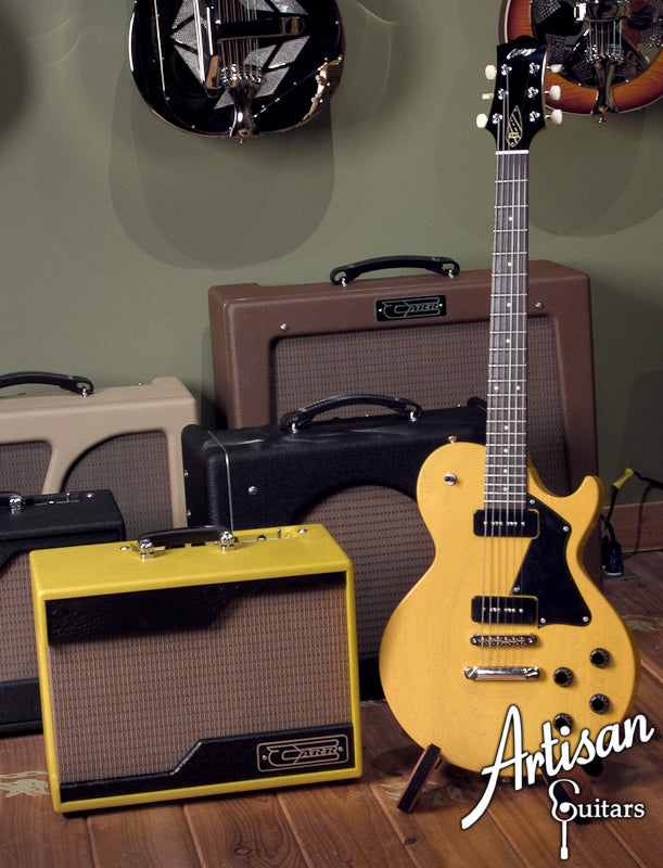 Carr Raleigh 1x10 TV Yellow with Tan Grill Cloth and Black Gator Trim ID-5315 - Artisan Guitars