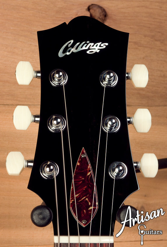 Collings 290DCS Double Cutaway Black with Tortoise Pickguard and Single Lollar P-90 ID-5484