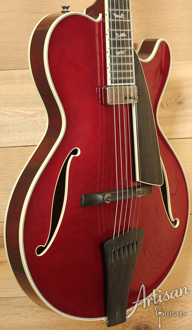 Collings City Limits Jazz Merlot Finish with Broken Glass Inlays ID-7316 - Artisan Guitars