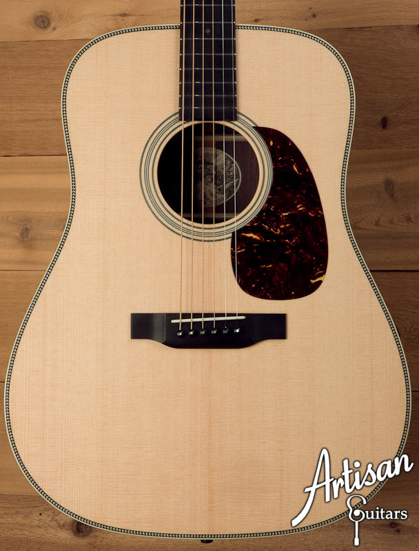 Collings D2H Custom Sitka Spruce and Indian Rosewood No Tongue Brace and Adirondack Bracing ID-5635 - Artisan Guitars