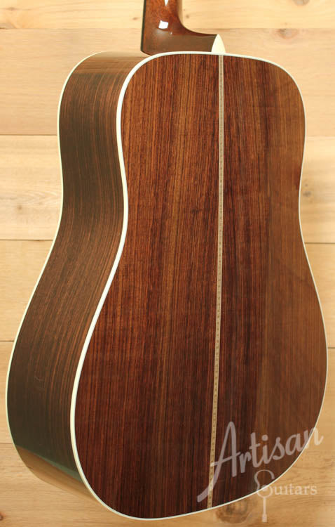 Collings D2HG German and Indian Rosewood with Adirondack Braces and No Tongue Brace ID-8766 - Artisan Guitars