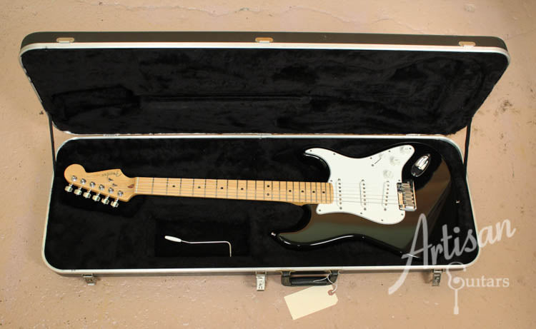 1999 Fender American Stratocaster Black with White Pickguard ID-9053 - Artisan Guitars