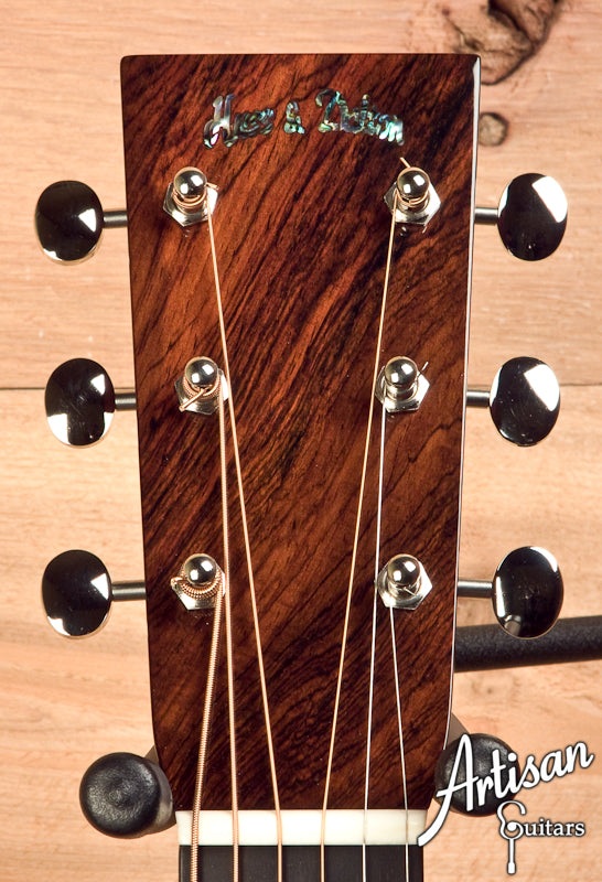 2010 Huss and Dalton TOM-R Brazilian Rosewood Adirondack Spruce Hot Hide Glue ID-5650 - Artisan Guitars