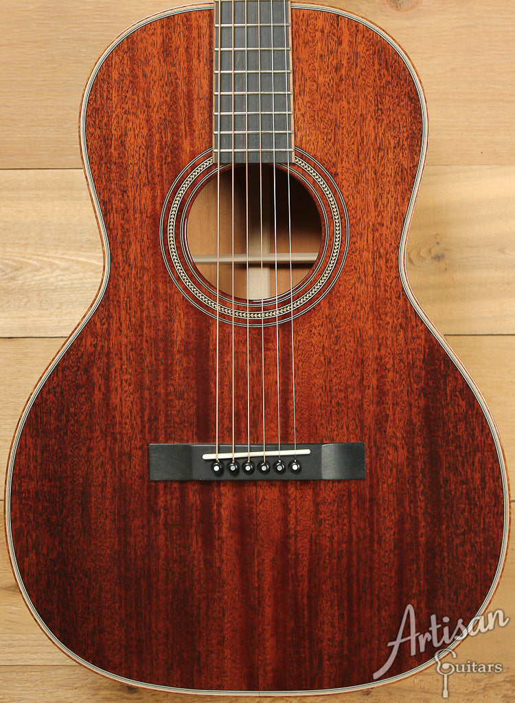 Huss and Dalton 00 Custom Sinker Mahogany with Koa Bindings ID-7262 - Artisan Guitars