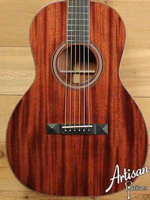Huss and Dalton 00 SP Custom Sinker Mahogany with Koa Bindings ID-6919 - Artisan Guitars