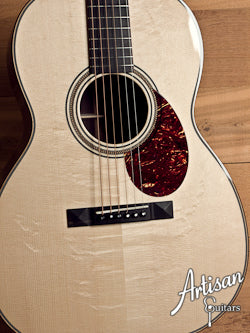 Huss and Dalton 000-SP Custom Bearclaw Italian Spruce and Indian Rosewood Short Scale ID-5421 - Artisan Guitars