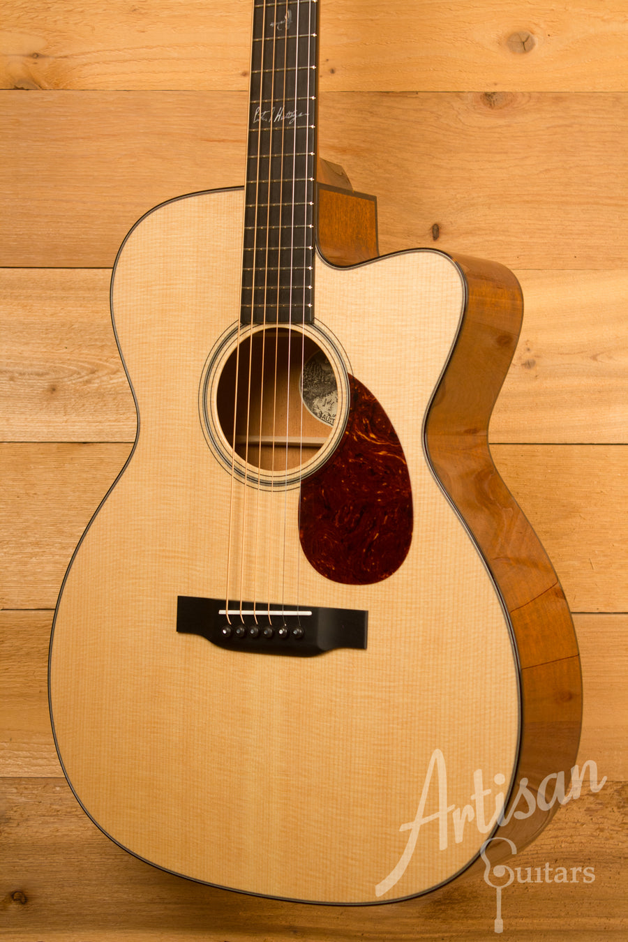 Collings Custom OM1 PH Cutaway Pete Huttlinger Signature Model ID-11514 - Artisan Guitars