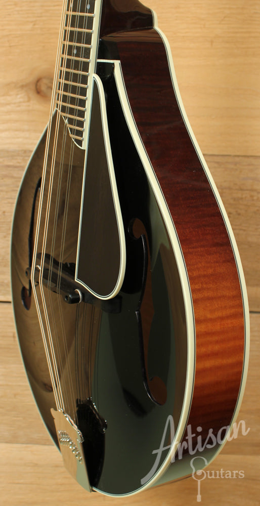 Collings MT2 Mandolin Black Top with Sunburst Back and Sides and Wide Nut ID-8830 - Artisan Guitars
