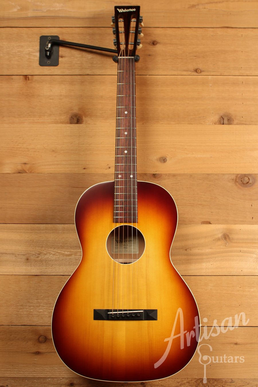 Waterloo WL-S Ladder Braced Guitar Solid Spruce and Cherry with Vintage Iced Tea Finish ID-11388 - Artisan Guitars