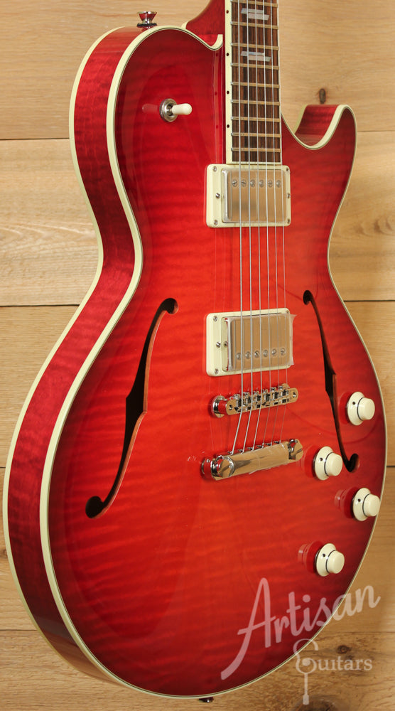 Collings SoCo LC Deluxe Guitar Scarlet Sunburst with Dual Lollar Low-Wind Imperial Humbuckers ID-9380 - Artisan Guitars