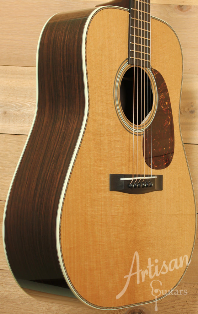 Pre Owned 2014 Huss and Dalton TD R Custom Thermo-Cured Appalachian Red Spruce and East Indian Rosewood with Hot Hide Glue ID-9384 - Artisan Guitars
