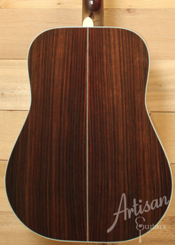 Pre Owned 2014 Huss and Dalton TD R Custom Thermo-Cured Appalachian Red Spruce and East Indian Rosewood with Hot Hide Glue ID-9384