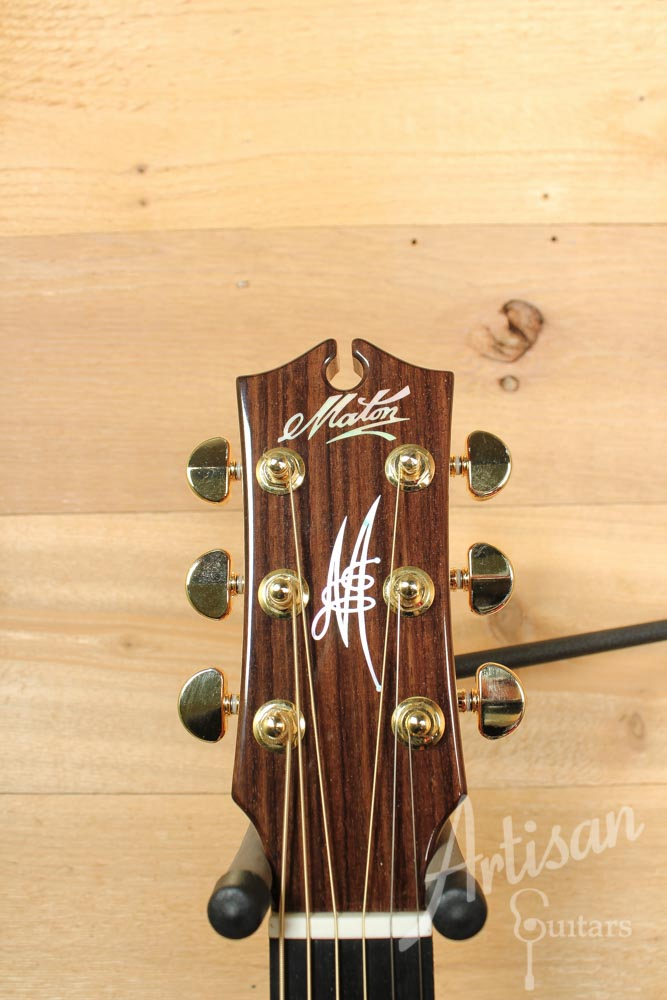 Pre-Owned 2014 Maton EM100C 808 Messiah Series with Sitka and Indian Rosewood Cutaway ID-9486 - Artisan Guitars