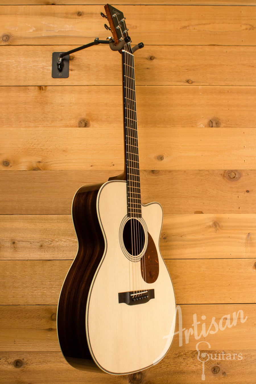Collings OM2H Guitar Cutaway Engelmann Spruce and Indian Rosewood ID-10477 - Artisan Guitars