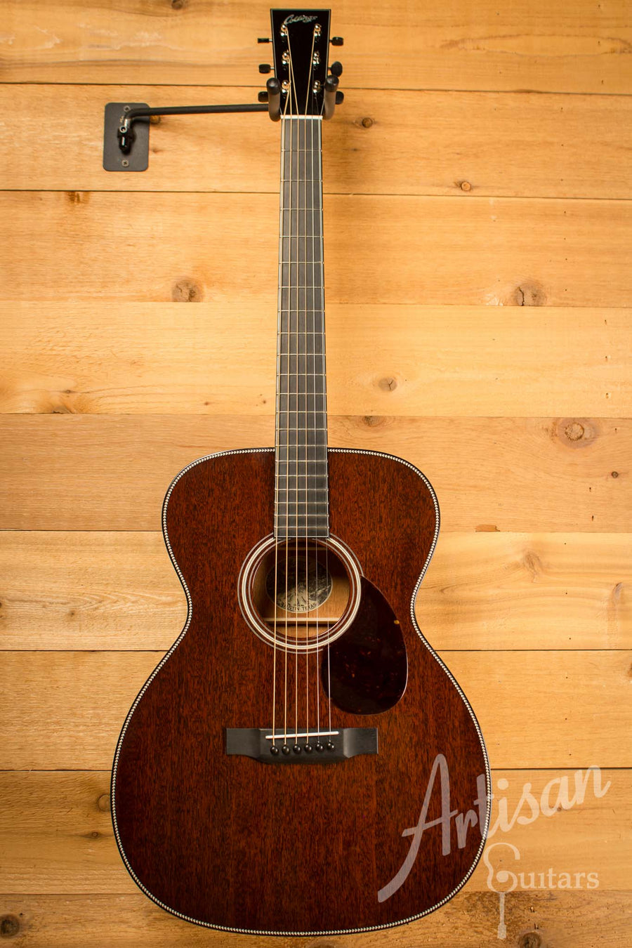 Collings OM1 H Guitar All Mahogany with Herringbone ID-10475 - Artisan Guitars