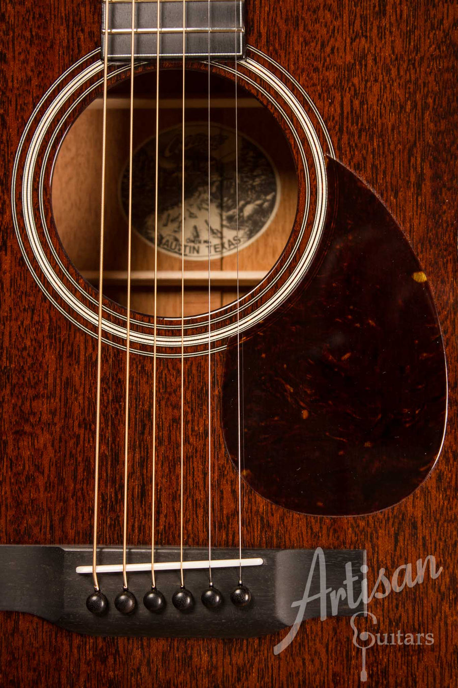 Collings OM1 H Guitar All Mahogany with Herringbone ID-10475