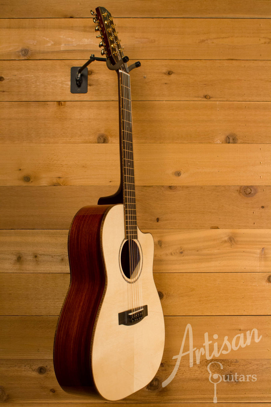 Huss and Dalton CM Custom 12-String Cutaway Italian Spruce and Cocobolo ID-10644