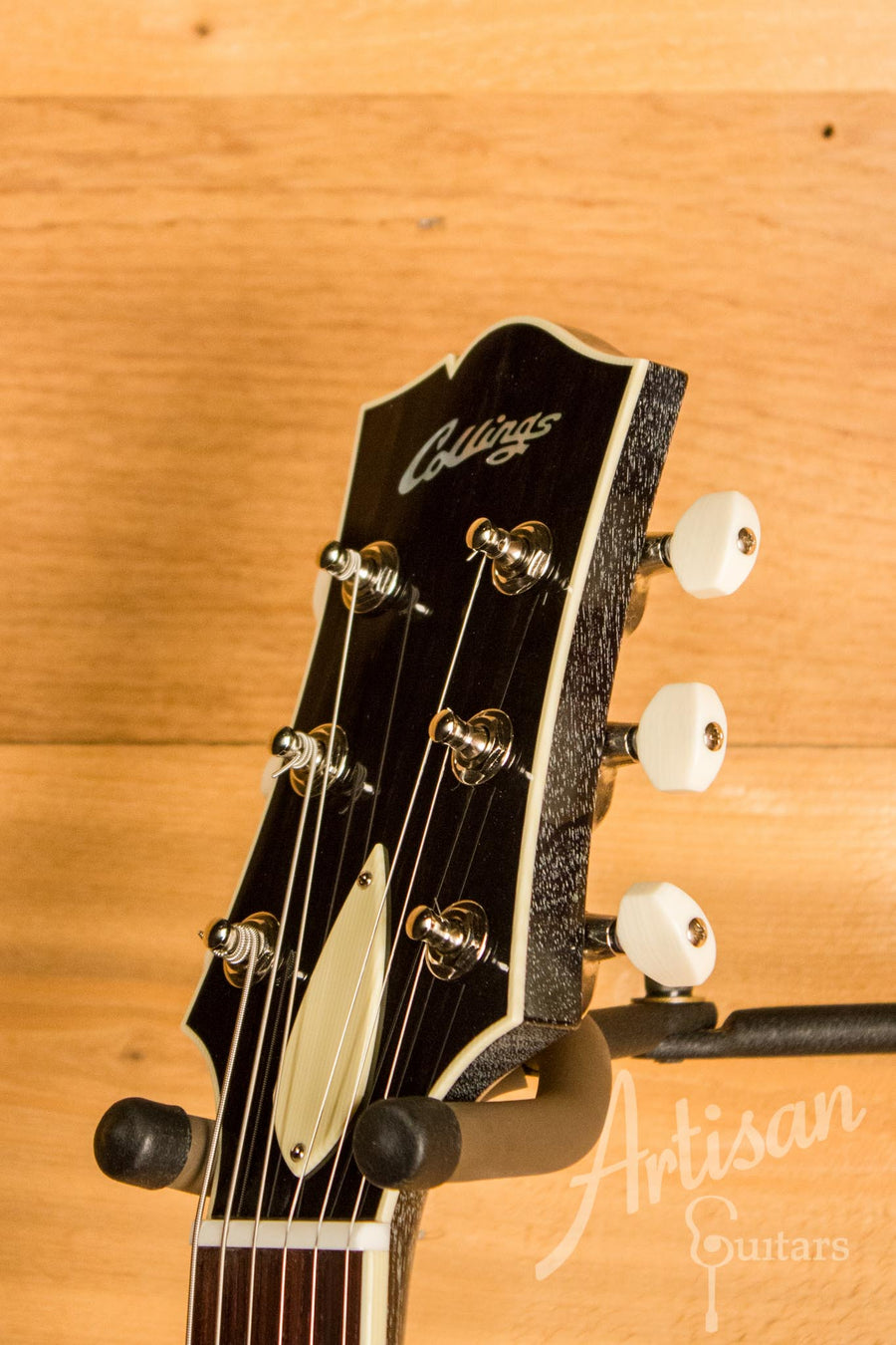Collings SoCo Deluxe Jet Black Top Dog Hair Finish with Italian Spruce Top ID-10608 - Artisan Guitars