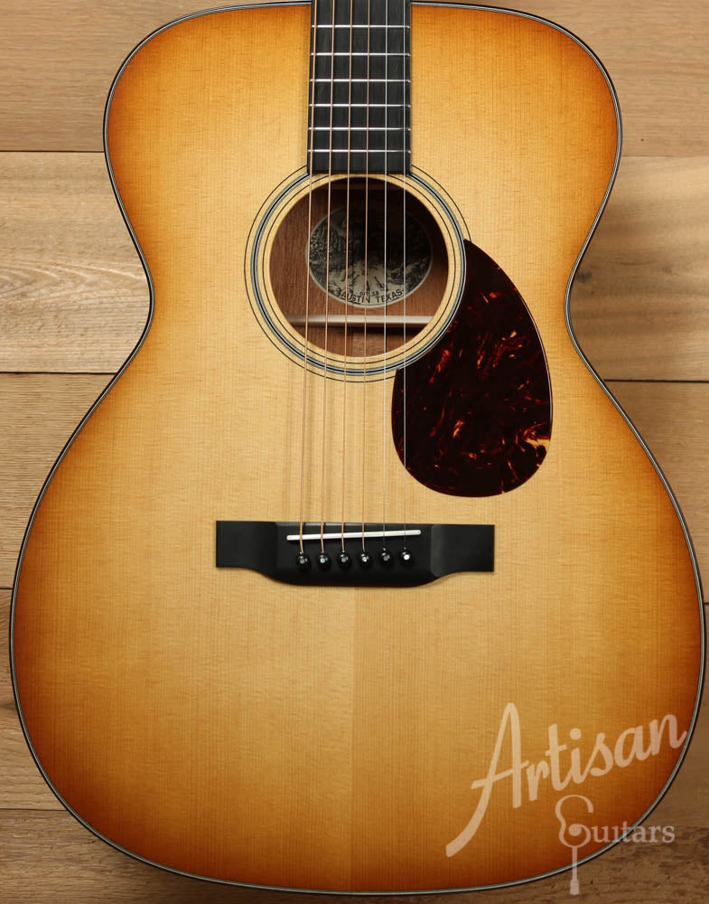 Collings OM1 SB  Sitka Spruce and Mahogany with Western Sunburst ID-8772 - Artisan Guitars