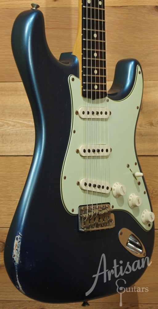 2010 Fender Custom Shop Wildwood 10 59 Stratocaster Relic Faded Lake Placid Blue ID-9180 - Artisan Guitars