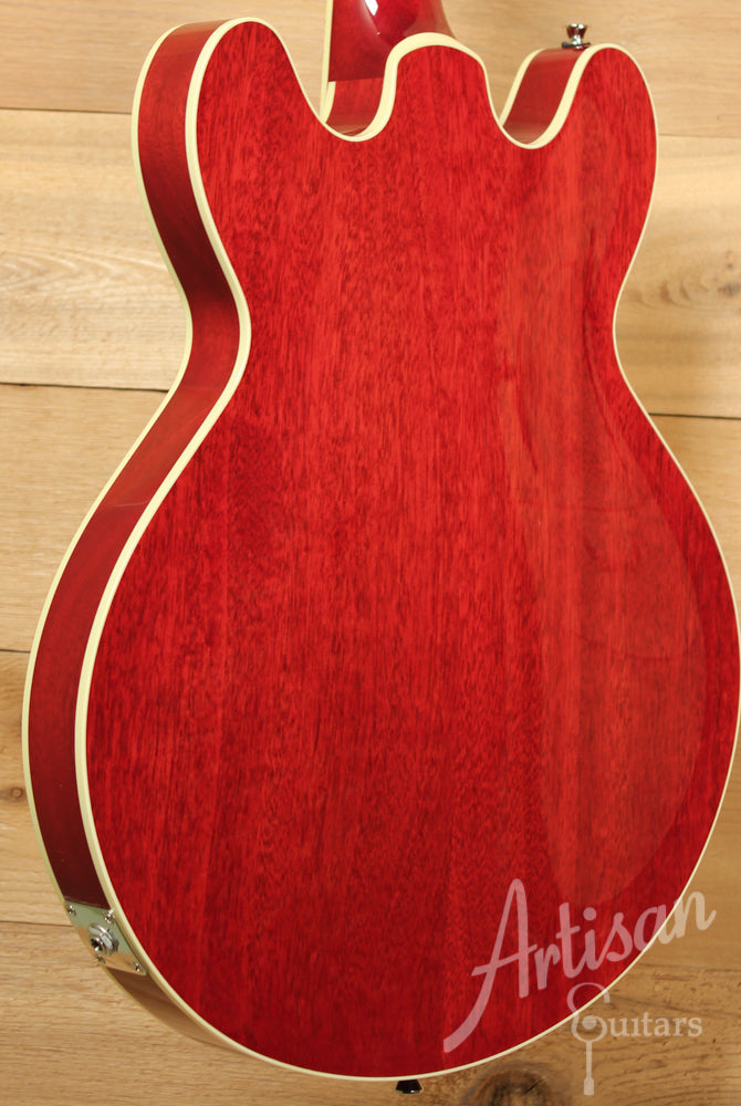 Collings I 35 Deluxe Premium Quilt Maple with Scarlet Sunburst and Parallelogram Inlays ID-9010