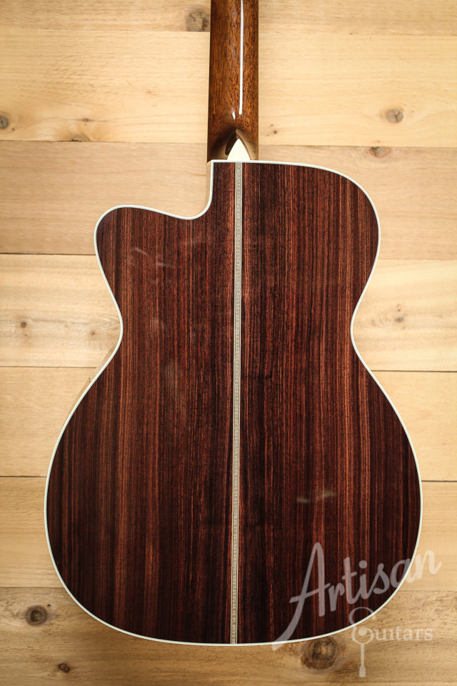 Collings OM2H E Cut Engelmann Spruce and Indian Rosewood with Cutaway ID-9844 - Artisan Guitars