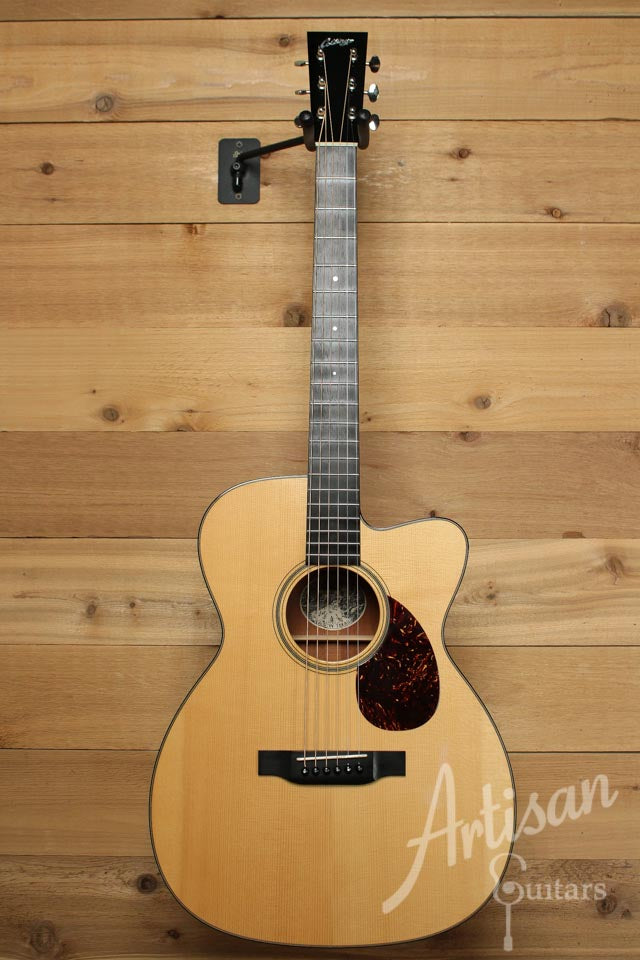 Pre-Owned 2007 Collings OM1 A Adirondack and Mahogany with Cutaway ID-9987 - Artisan Guitars