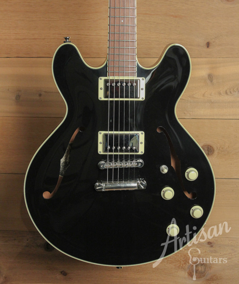 Pre Owned 2014 Collings I 35 Deluxe Jet Black and Dual Lollar Low Wind Imperial Humbuckers  ID-10043 - Artisan Guitars