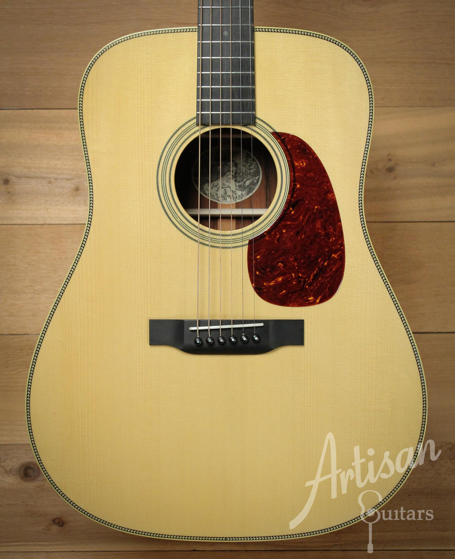 Collings D2HA Varnish Adirondack Spruce and Madagascar Rosewood No Tongue Brace and Adirondack Bracing ID-10055 - Artisan Guitars