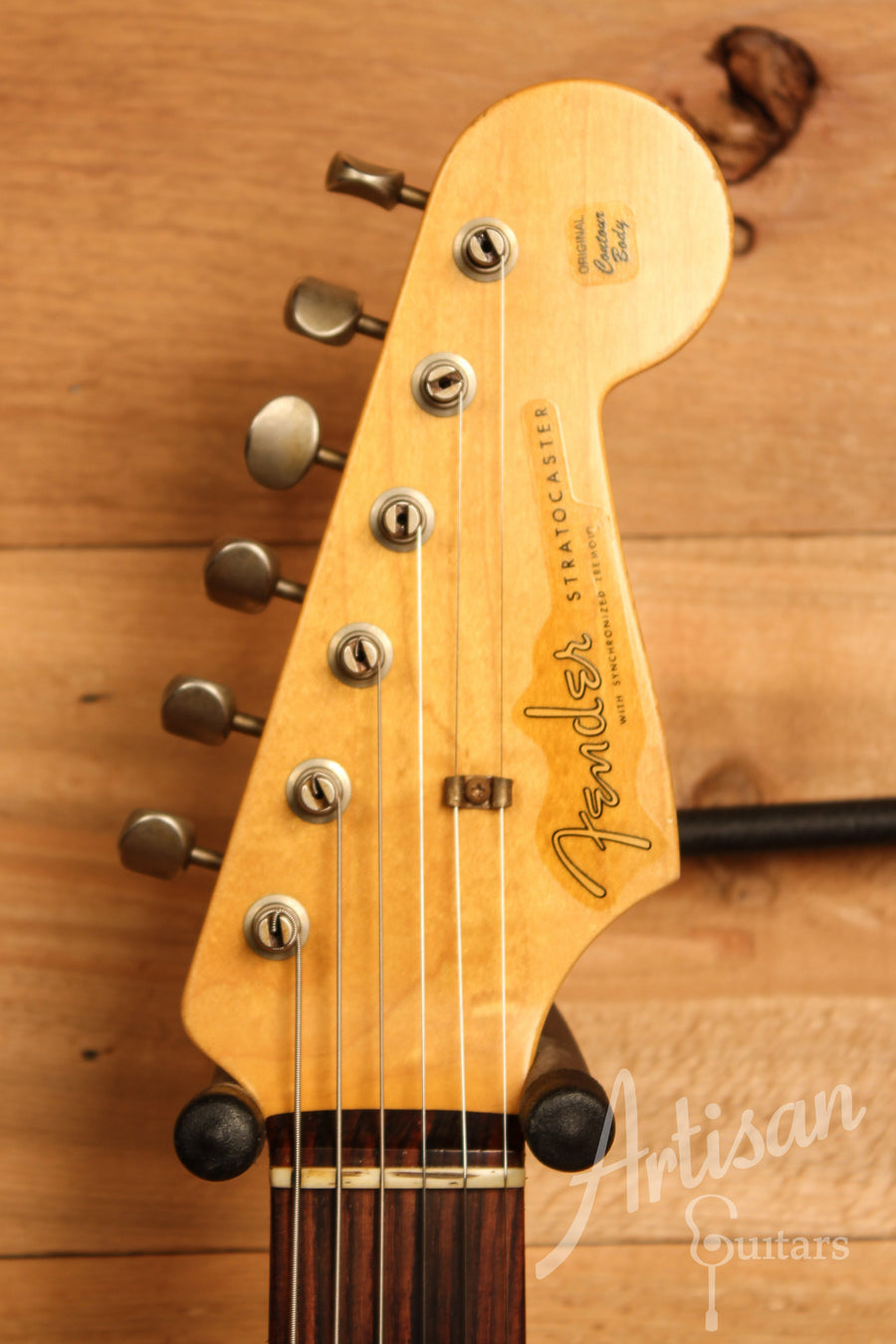 Fender Custom Shop 1960 Relic Stratocaster Aged Black Finish Pre-Owned 2014 ID-11459 - Artisan Guitars