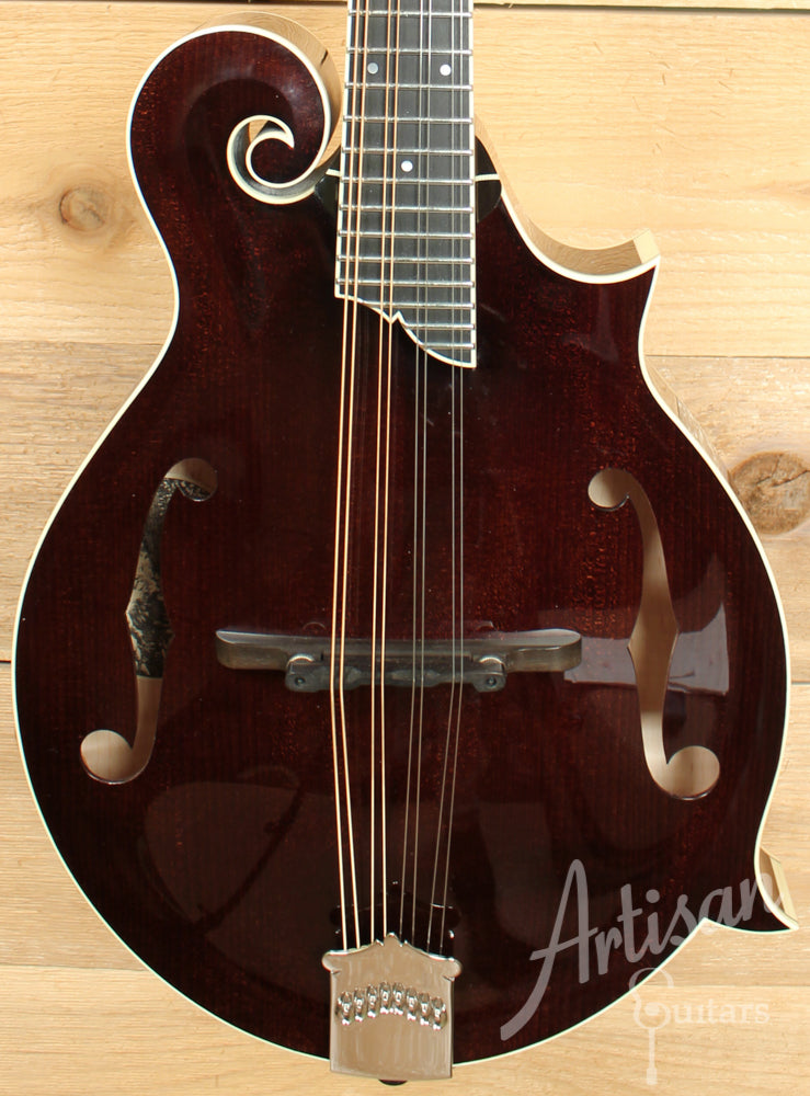 Collings MF 5 Mandolin F Style with Adirondack and Flame Maple in Full Sheraton Brown ID-8075 - Artisan Guitars