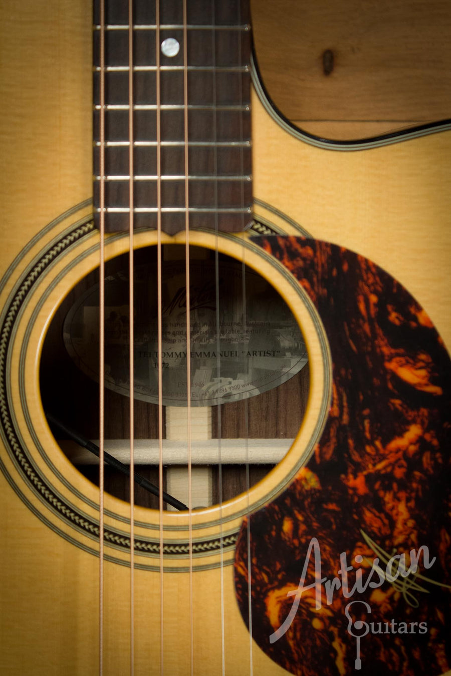 Maton TE1 Guitar Tommy Emmanuel Artist Sitka Spruce and Indian Rosewood AP5 Pro ID-10118 - Artisan Guitars