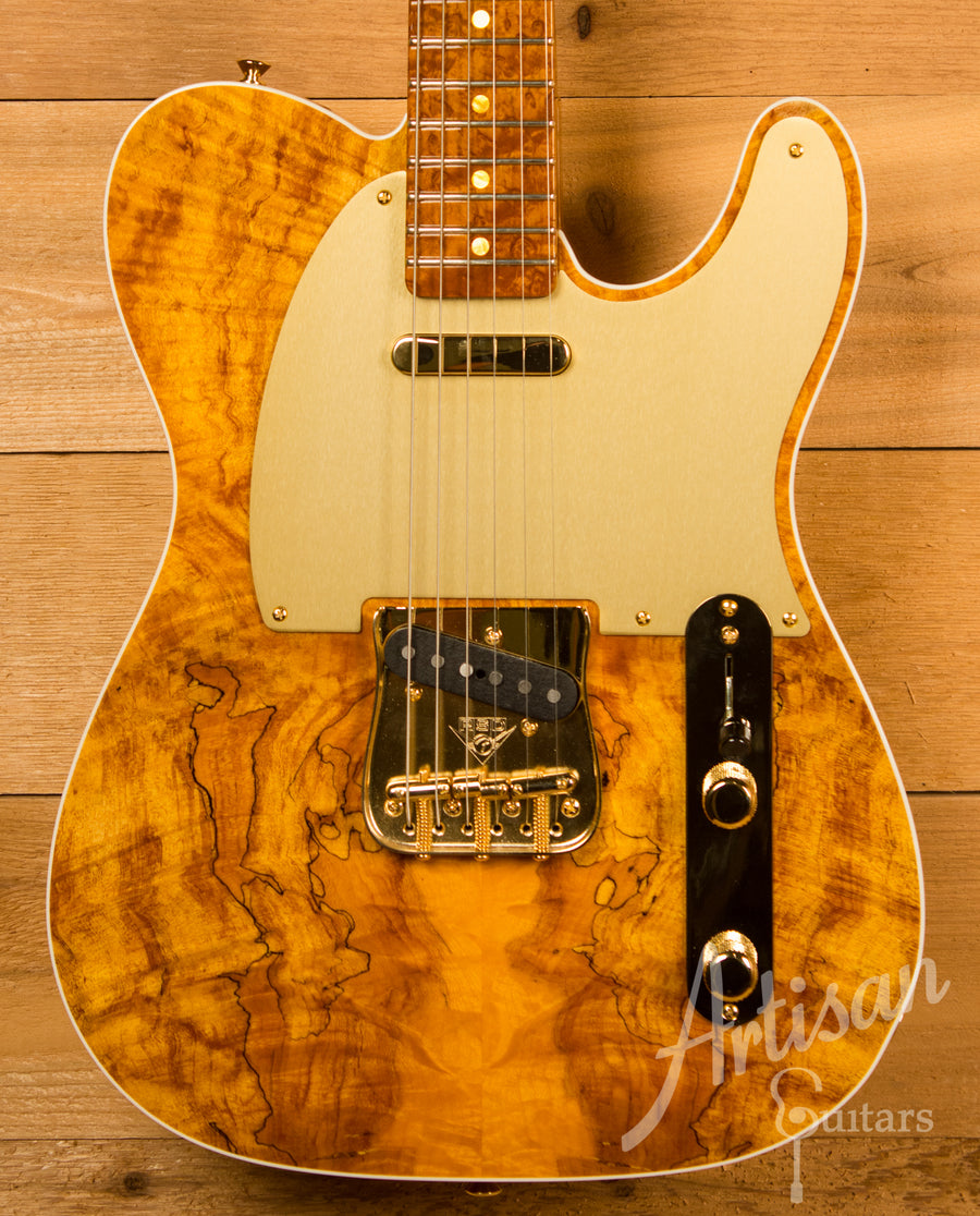 Fender Custom Shop Artisan Collection Telecaster Roasted Alder with Spalted Maple Top Pre-Owned 2016 ID-11575