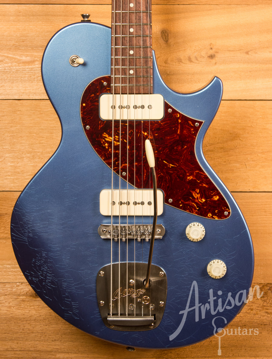 Collings 360 M Baritone Aged Pelham Blue Finish with Mastery Bridge and Aged Hardware ID-11576 - Artisan Guitars