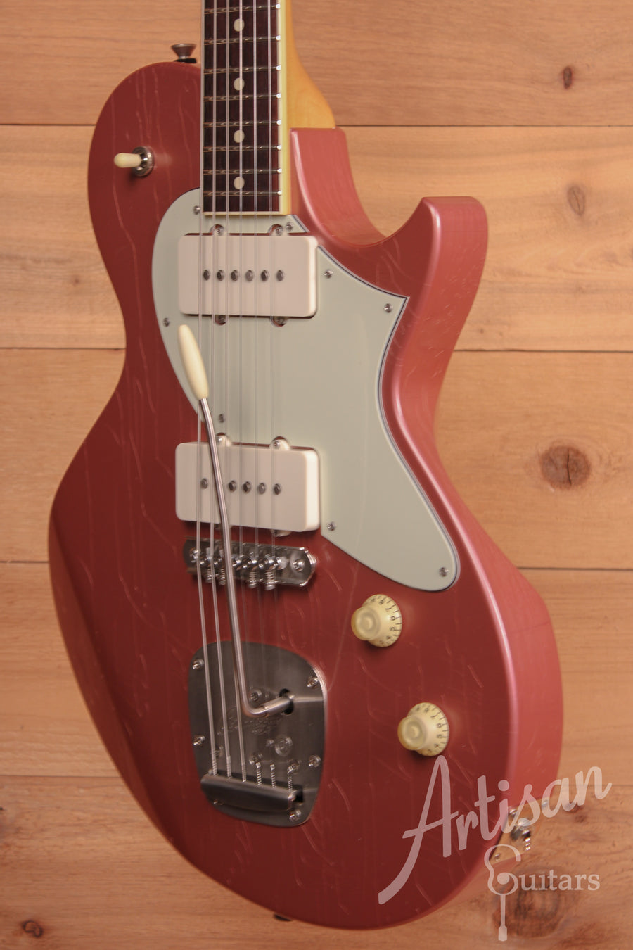 Collings 360 LT M Aged Burgundy Mist Finish with Mastery Bridge and Aged Hardware ID-11344