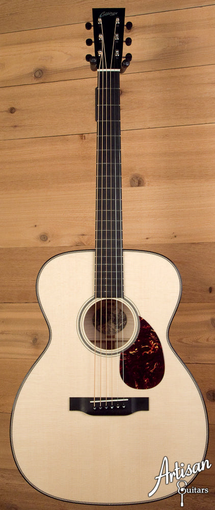Collings OM1HMapleG German Spruce and Maple Dreadnought Depth Adirondack Bracing and No Tongue Brace ID-5304 - Artisan Guitars