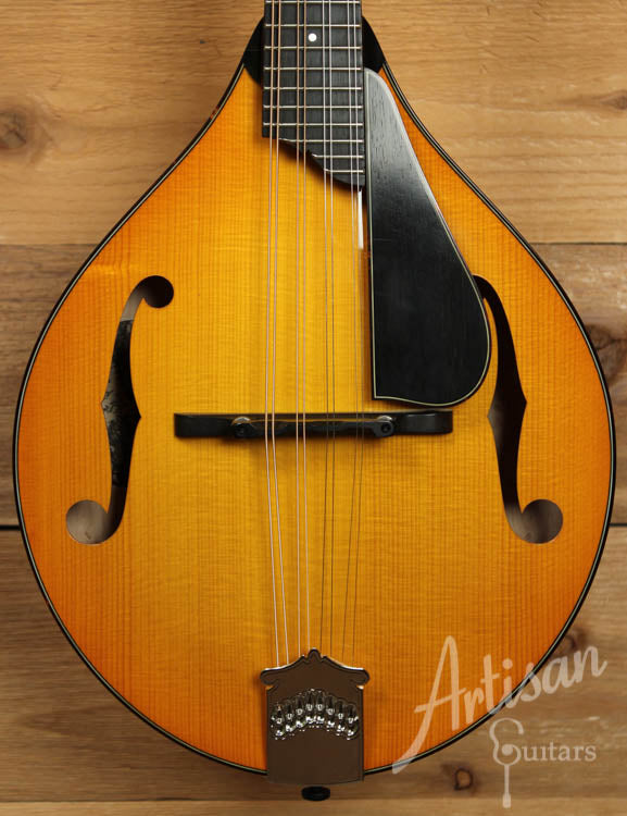 Pre Owned 2013 Collings MT2 V A Style Mandolin with Tangerine Burst ID-7788 - Artisan Guitars