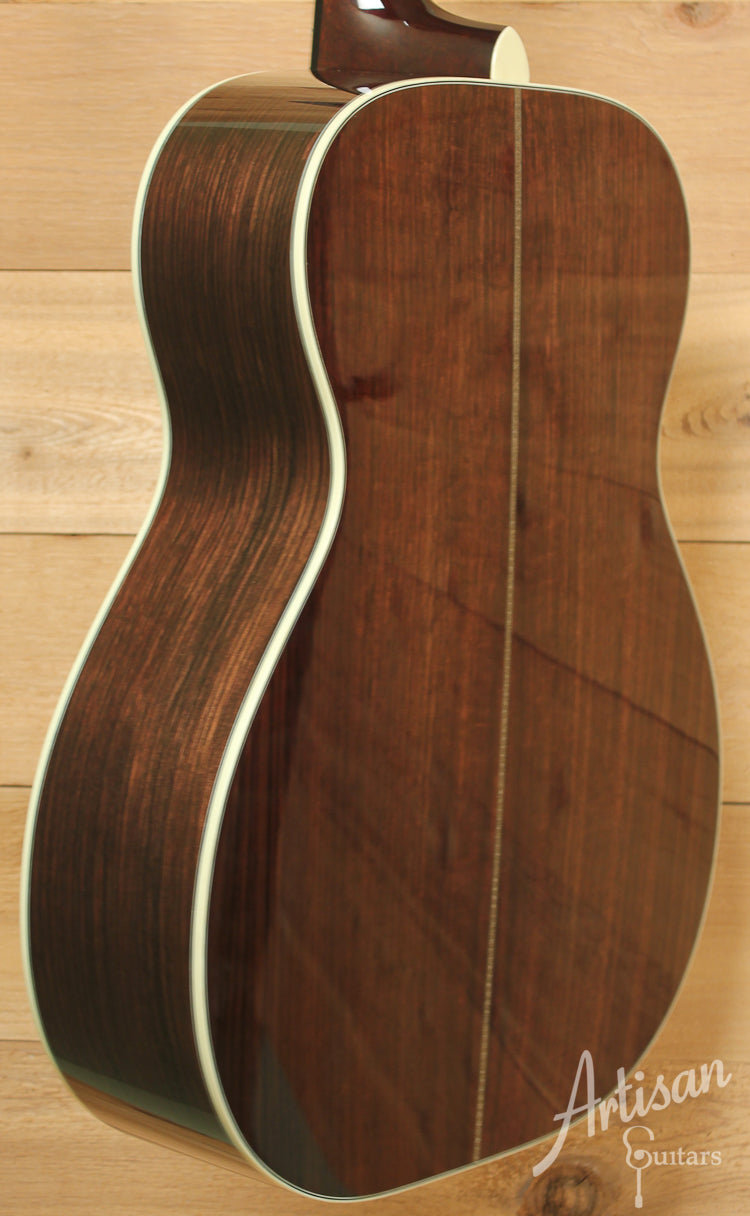 Huss and Dalton TOM R Thermo Cured Adirondack Spruce with East Indian Rosewood and Hide Glue Top Bracing  ID-8128