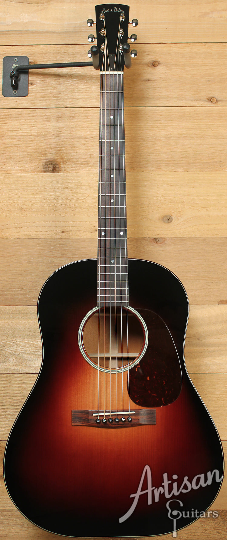 Huss and Dalton DS Custom Red Spruce and Sinker Mahogany with Sunburst ID-7565