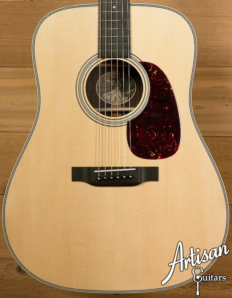 Collings D2HA Adirondack Top with No Tongue Brace Indian Rosewood Back and Sides ID-6303 - Artisan Guitars