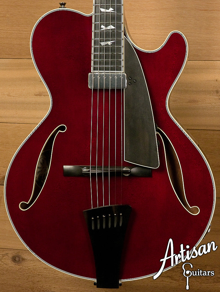Collings City Limits Jazz Thinline Archtop Merlot Finish Lollar Johnny Smith-Style Pickup ID-6316 - Artisan Guitars
