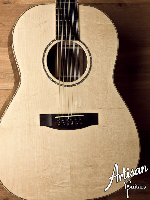 Huss and Dalton Custom CM 12-String Bearclaw Italian Spruce and Macassar Ebony ID-5614